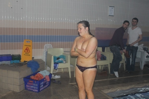 I went to the only club in the uk with a swimming pool for European pool show